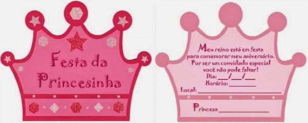 Convites Das Princesas Para Imprimir