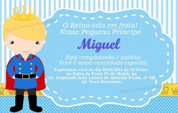 Convite Principe No Elo7