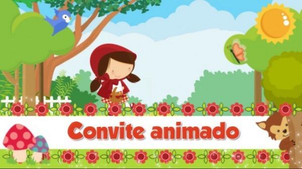 Convite Virtual Animado Para Whatsapp Chapeuzinho Vermelho