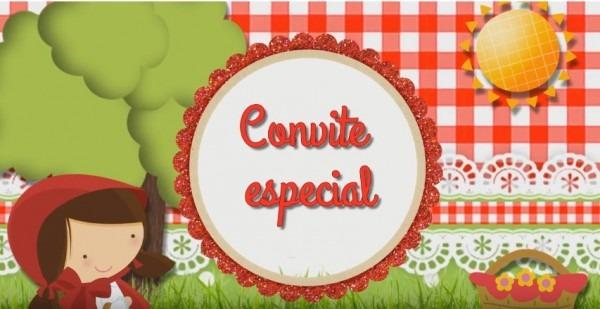 Convite Virtual Chapeuzinho Vermelho No Elo7