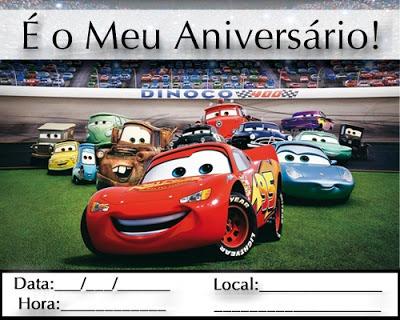 ♥docemaisquemell♥  Convite Dos Carros Para Imprimir