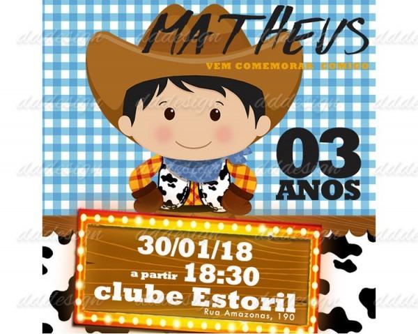 Convites Aniversario Infantil Faz 1 Menino Fazenda Top No Elo7