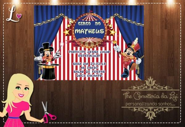 Convites Circo Do Mickey No Elo7