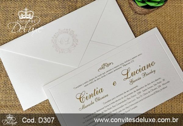Convite De Casamento Elegantes, Clássicos E Chiques