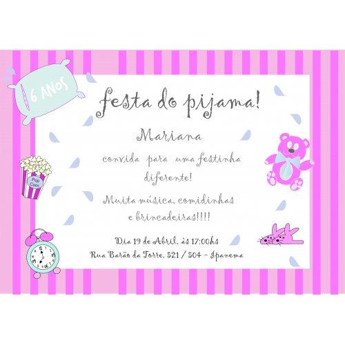 Convite Festa Do Pijama I