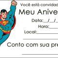 Convite Do Super Homem Para Imprimir