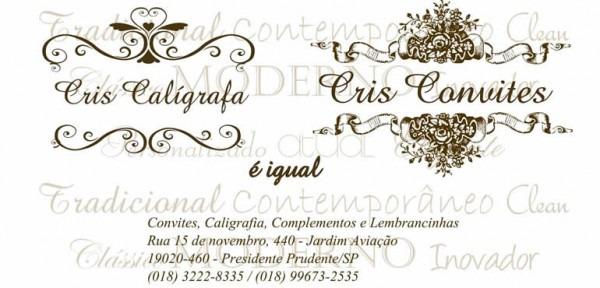 Cris Convites Caligrafias