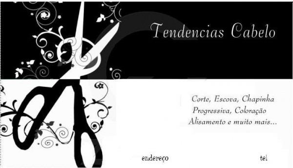 Convites Facil  Cartão De Visita Cabeleireiro 02