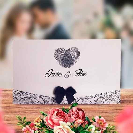 Convite Casamento Simples Baratos