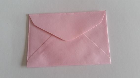 Envelope Para Convite 10x7 Rosa