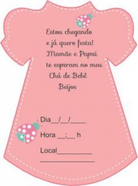 As Melhores Ideias De Convite Chá De Bebê Vestido