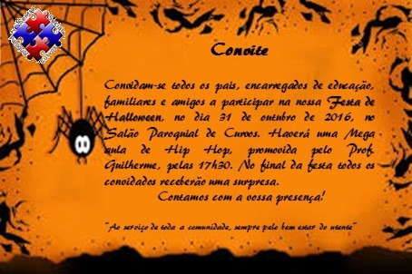 Convite De Halloween!!!