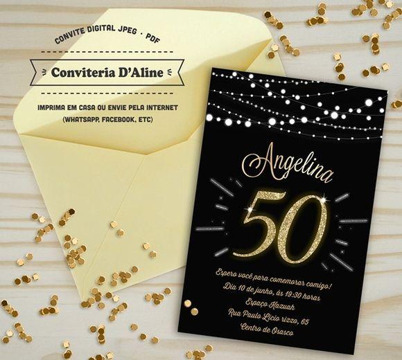 Convite 50 Anos Dourado