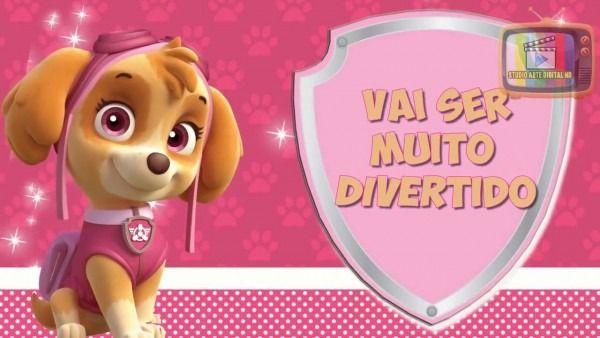 Convite Virtual Patrulha Canina Skye