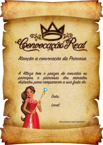 Convite Pergaminho Princesa Elena De Avalor 6