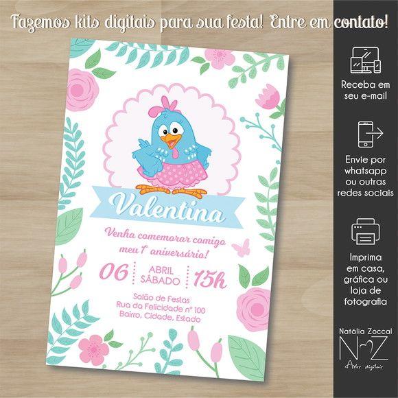 Convite Digital Galinha Pintadinha Rosa 2