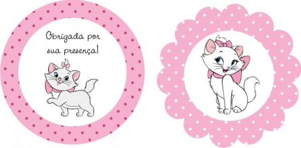 Mini Kit Personalizado Gatinha Marie Para Imprimir