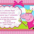 Convite Da Peppa Princesa