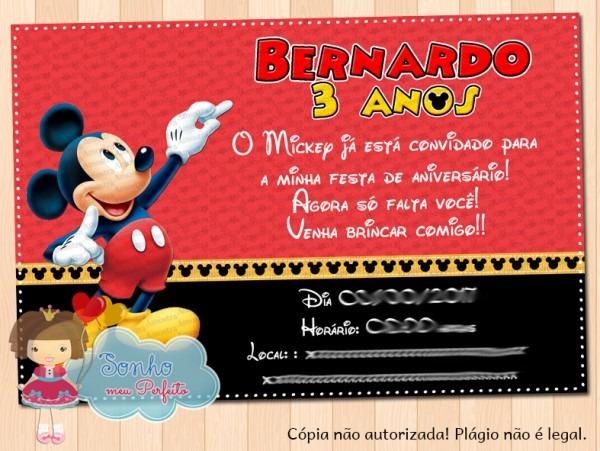 Frases Para Convite De Aniversario De 1 Ano Mickey 6 » Happy