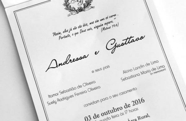 Vaza Foto Do Convite De Casamento De Gusttavo Lima, Veja – Radio