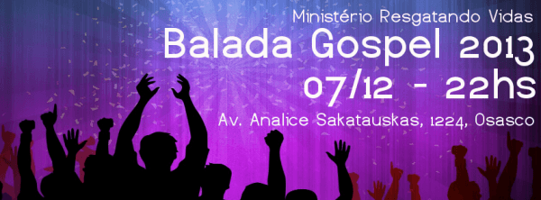 Convite De Balada Gospel