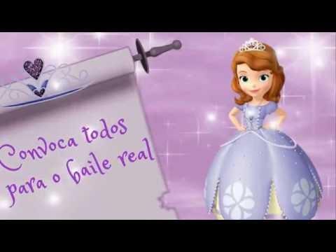 Convite Animado Princesinha Sofia