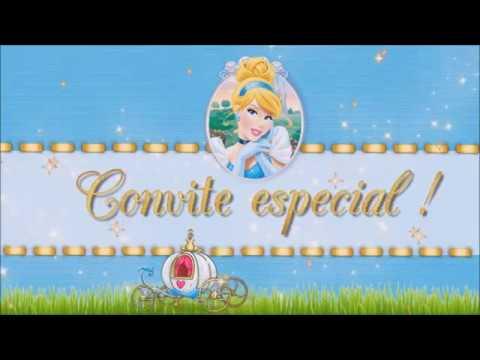 Convite Animado Virtual Cinderela