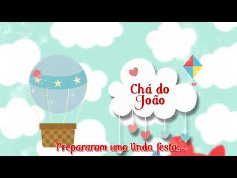 Convite ChÁ De Fraldas Do JoÃo Tema Pipas E BalÕes