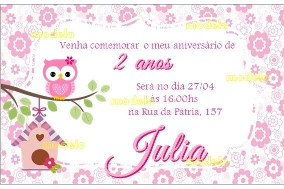 Kit Festa Corujinha 150 Peças Com Convite (pronto)