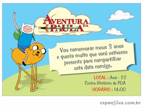 Convites Infantis Para Hora De Aventura M6760