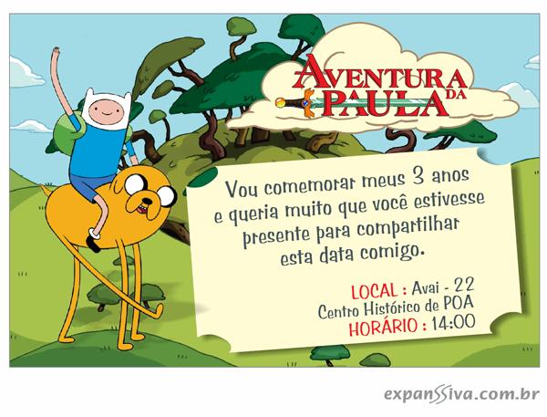 Convites Infantis Para Hora De Aventura M6764