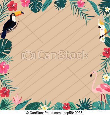 Madeira, Aniversário, Convite, Fundo, Coquetel  Flamingo, Papagaio