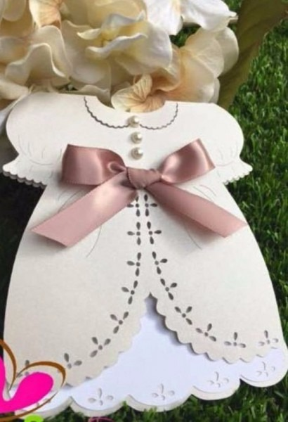 Molde Digital Convite Vestido Menina 5 Scrapbook Silhouette