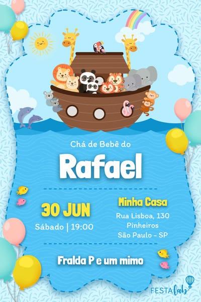 Convite Arca De Noé