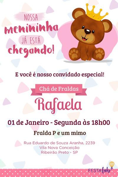 Convite Ursinho