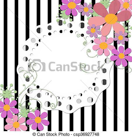 Quadro, Casório, Aniversário, Fundo, Convite, Floral, Ou, Cartão