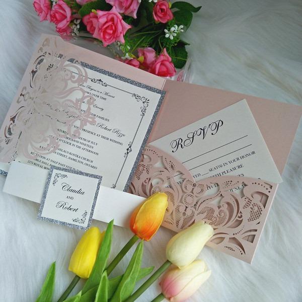Convites Casamento Preço Convite Do Casamento Blush Rosa Do