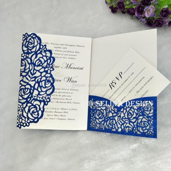 Letras Para Convite De Casamento Os Convites Dobrados Em Três