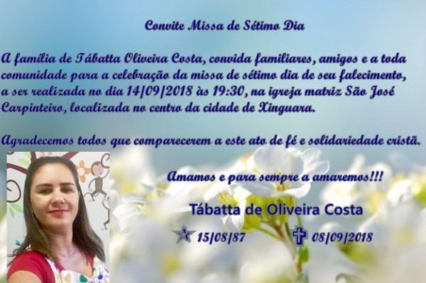 Convite Para Missa De Sétimo Dia